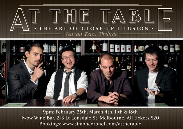 At The Table: The Art of Close-Up Illusion